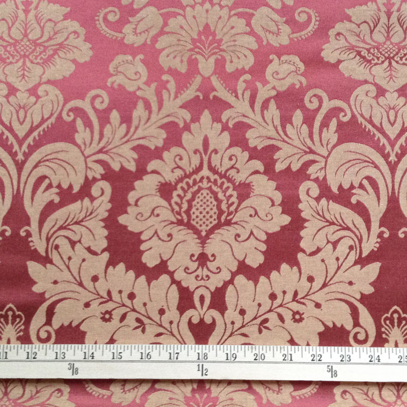 Red And Gold Damask Fabric Red Amp Gold Cotton Blend Damask