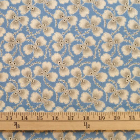 Cotton Print Blue Clover