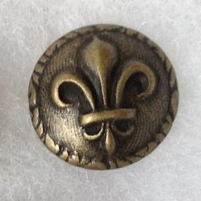 Fleur-de-lis-brass-button-l
