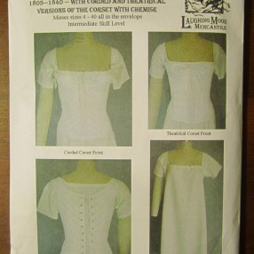 Regency corset and chemise pattern