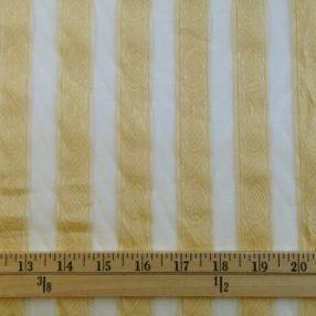 Silk Organza stripe Gold on Gold
