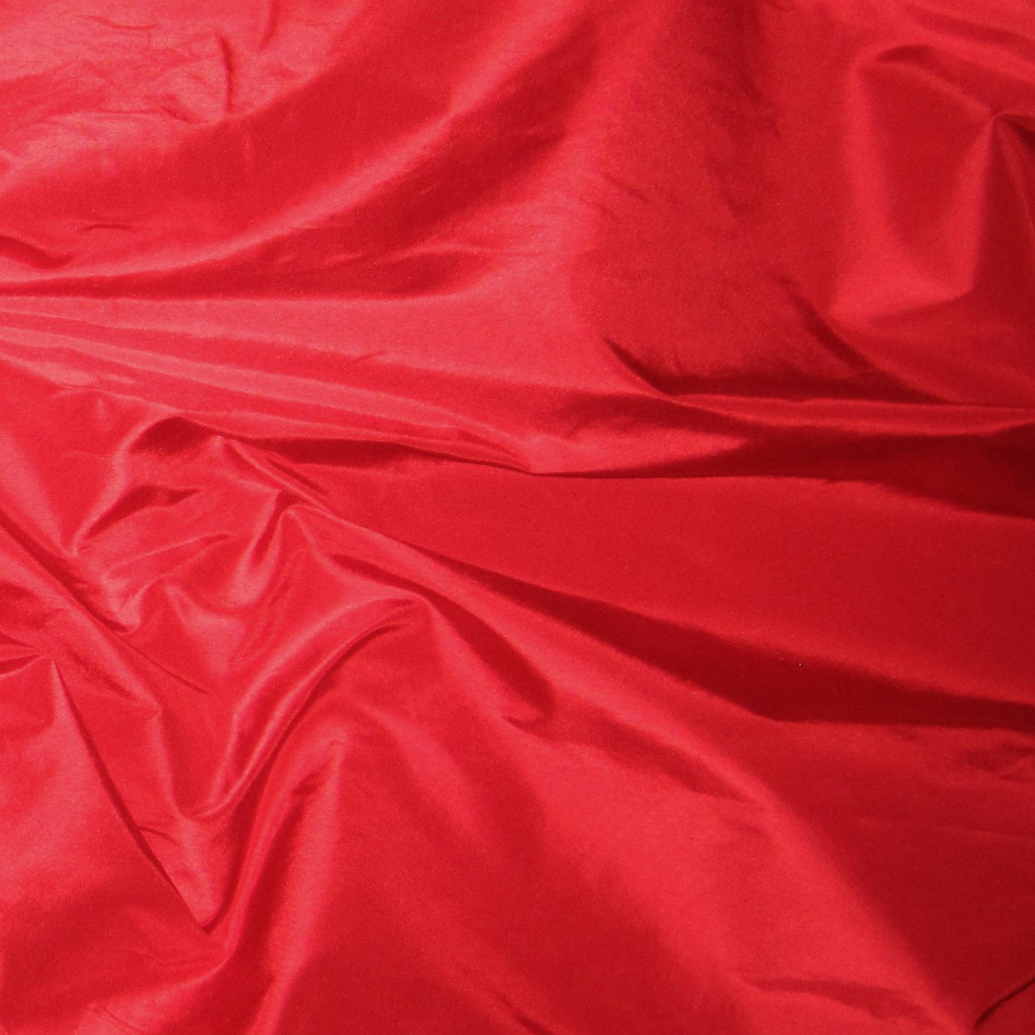 Crimson Silk Taffeta - Renaissance Fabrics