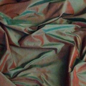 Silk Taffeta Green-Red