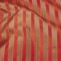 Silk Taffeta Satin Stripe Coral