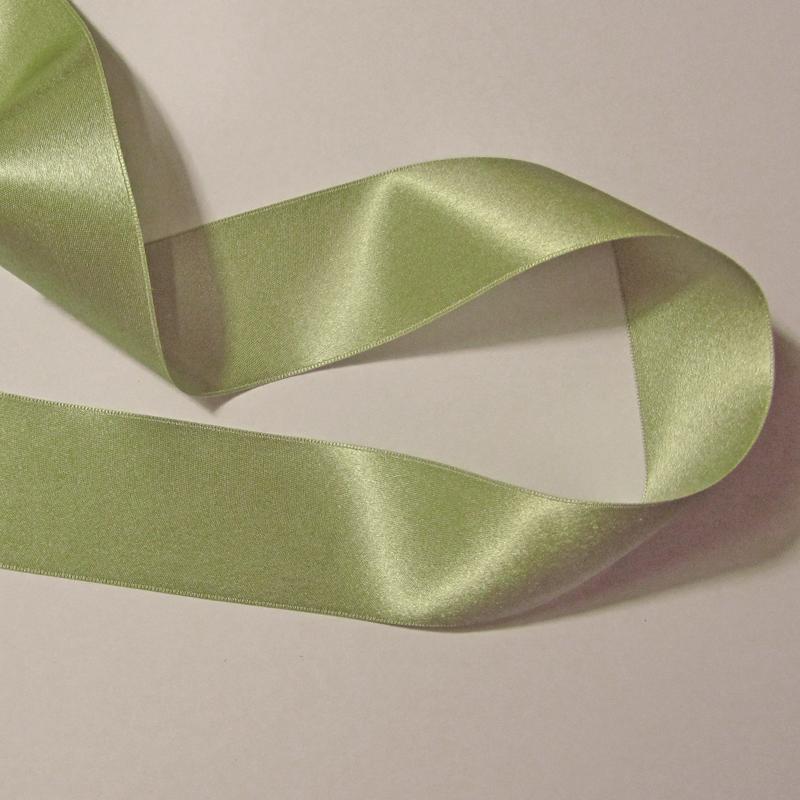 Spring Green Double Face Silk Satin Ribbon 36mm 1 1 2