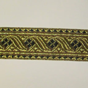black and gold galon trim