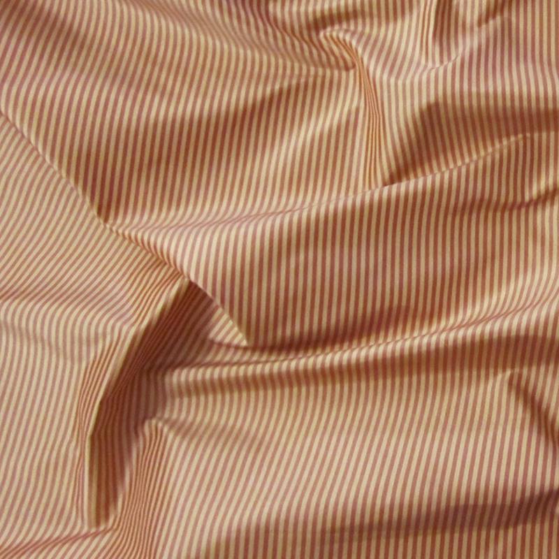Rose Amp Cream Mini Striped Silk Taffeta Renaissance Fabrics
