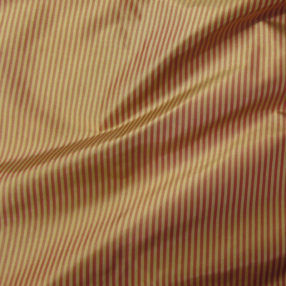 red and gold mini stripe silk taffeta