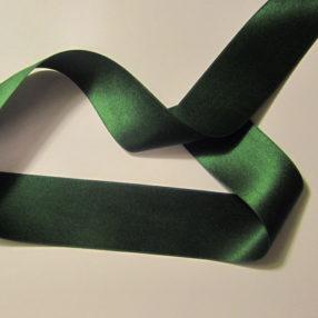 Dark Green Double Face Silk Satin Ribbon 36mm 1 2