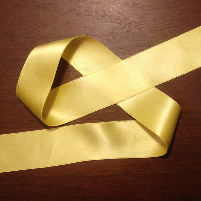 pale gold double face silk satin ribbon 36mm 1 1 2 renaissance
