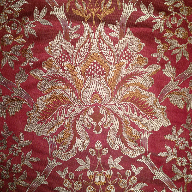 Gold And Red Damask Curtains Curtain Menzilperde Net