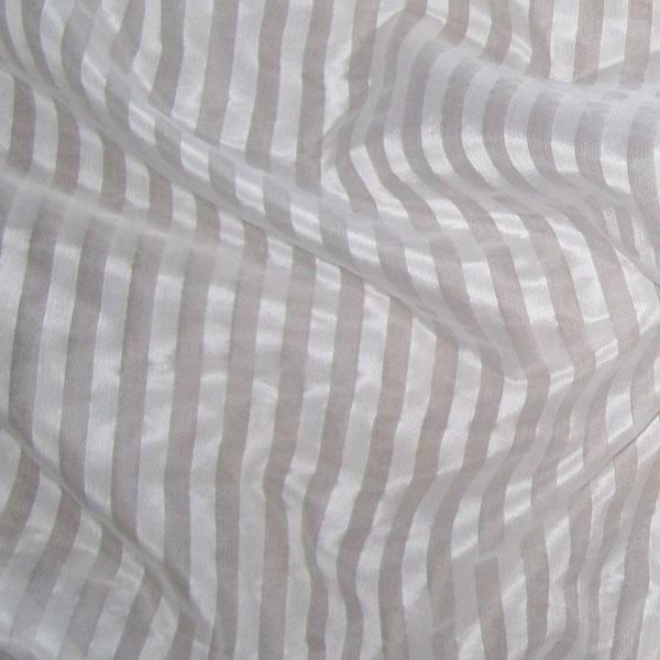 white silk organza stripe