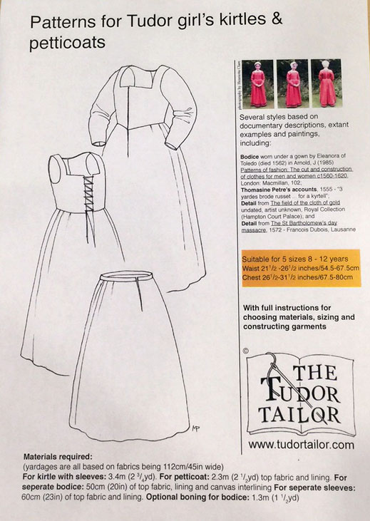 Girl's Tudor Kirtle & Petticoat