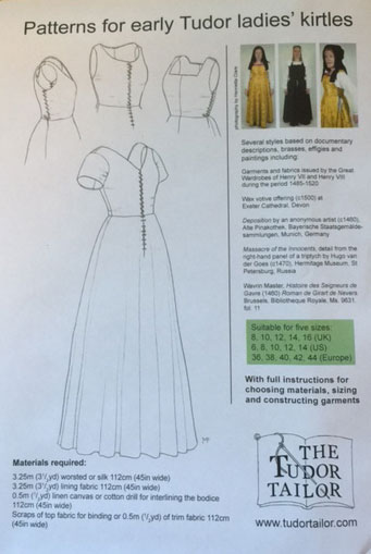 Ladies' Early Tudor Kirtles (smaller sizes)